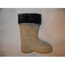 Обувь валяная на резиновой подошве Вьюга (серые)