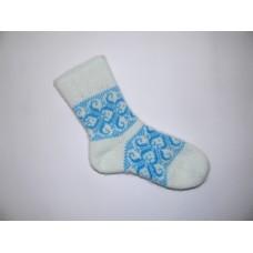 Носки шерстяные синие.