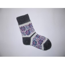 Носки шерстяные сиреневые