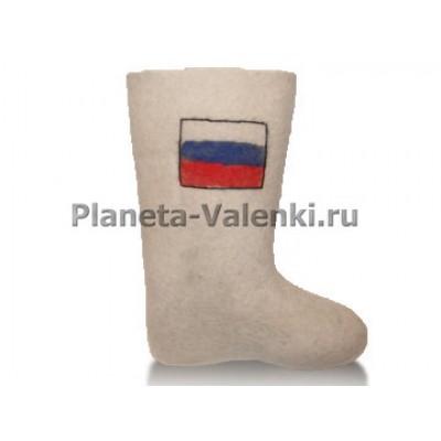 Валенки обыкновенные Вьюга с отделкой (флаг)