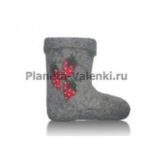 """Валенки домашние с отделкой """"Земляника"""""""